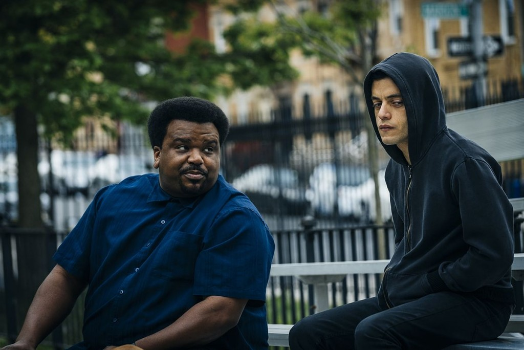 "MR. ROBOT -- ""eps2.0_unmasking.zip"" Episode 201 -- Pictured: (l-r) Craig Robinson as Ray, Rami Malek as Eliot Alderson -- (Photo by: Michael Parmelee/USA Network)"